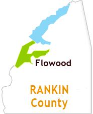 Map of Flowood and Rankin County